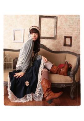 Jupe jupon dentelle Mori Girl